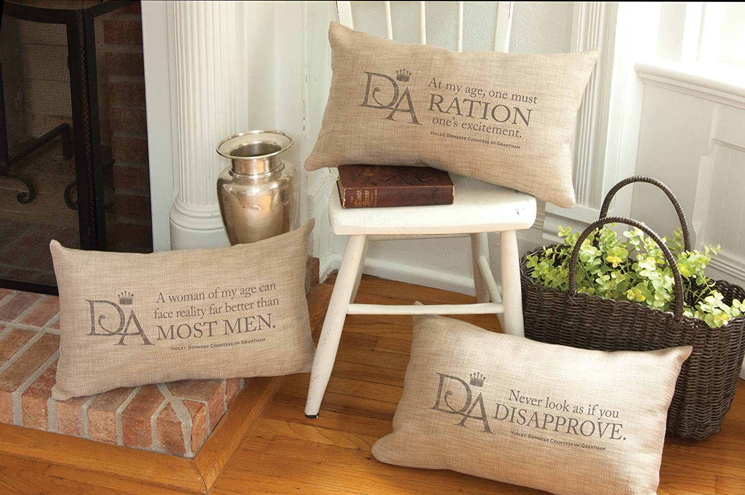 Heritage Lace VW1220NA-2 Violets Wisdom Pillow 12 by 20 Natural