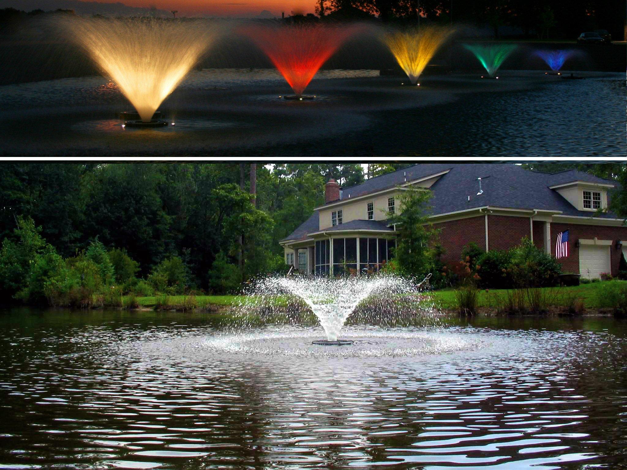 Kasco Decorative Aerating Lake & Pond Fountain WITH LIGHT KIT - 1/2 HP by Kasco Marine