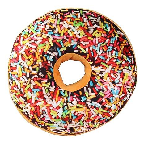 Amazon.com: 3d chocolate arco iris glaseado Azúcar Donut ...