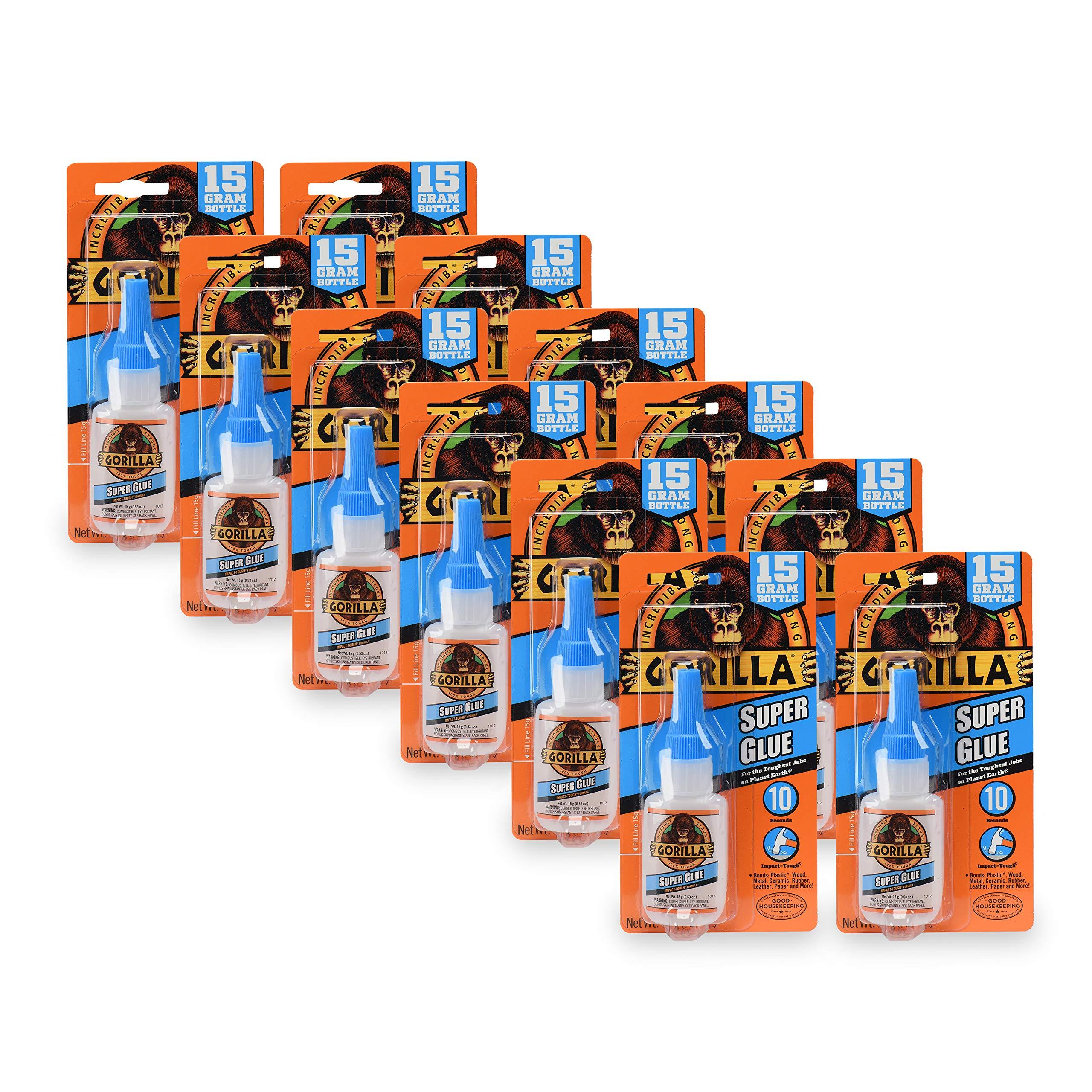 Gorilla 7805001-12 Super Glue (12 Pack), 15 g