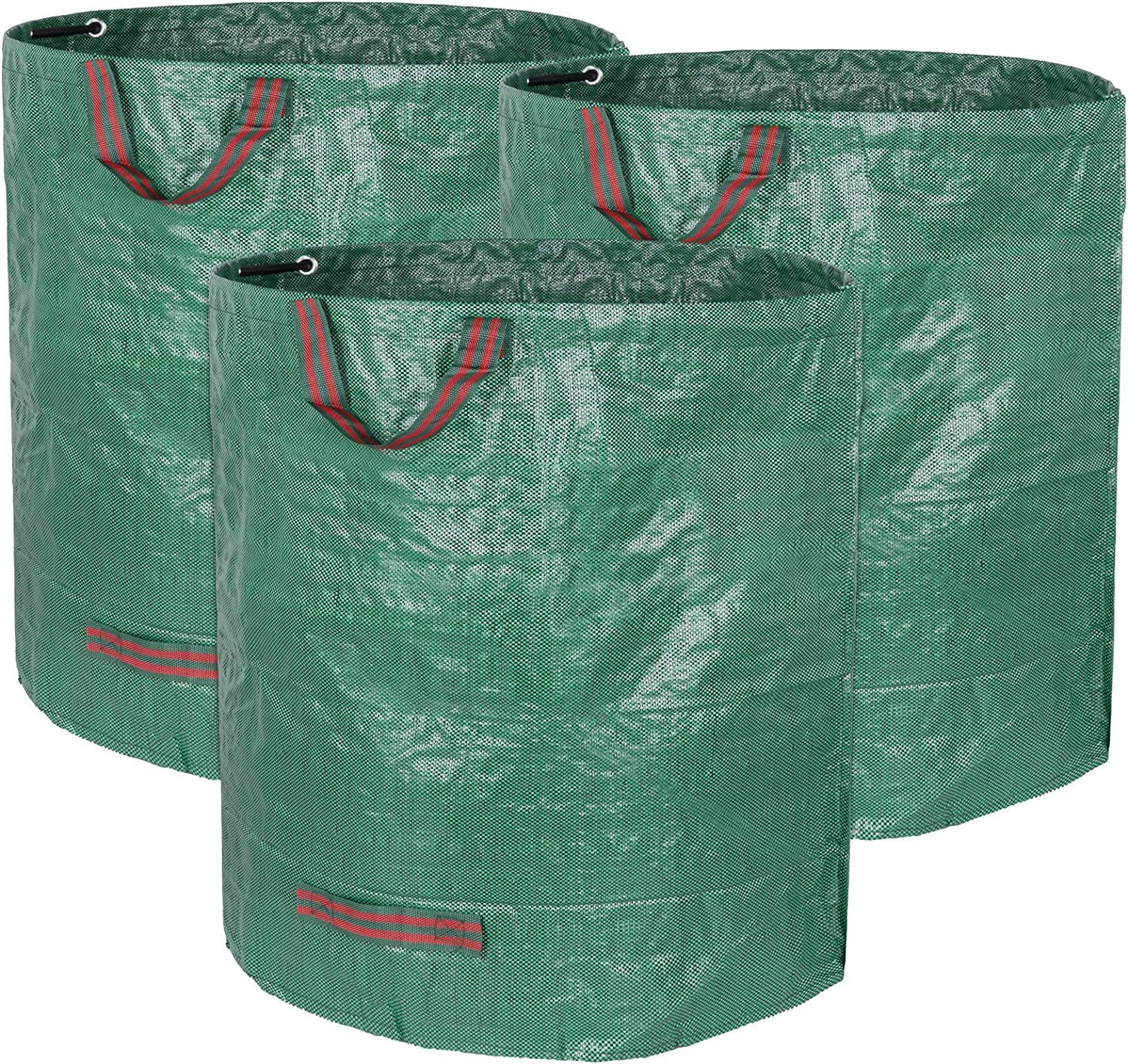 Decorlife 3 Pack 72 Gallons Reusable Garden Waste Bag, Heavy Duty Yard Waste Bag with Dual Handles and Double Bottom Layers, Reusable Garden Leaf Bag for Collecting Leaves Grass Clippings Yard Debris