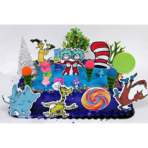Awe Inspiring Amazon Com Cake Toppers Dr Seuss Themed Deluxe Birthday Set Funny Birthday Cards Online Alyptdamsfinfo