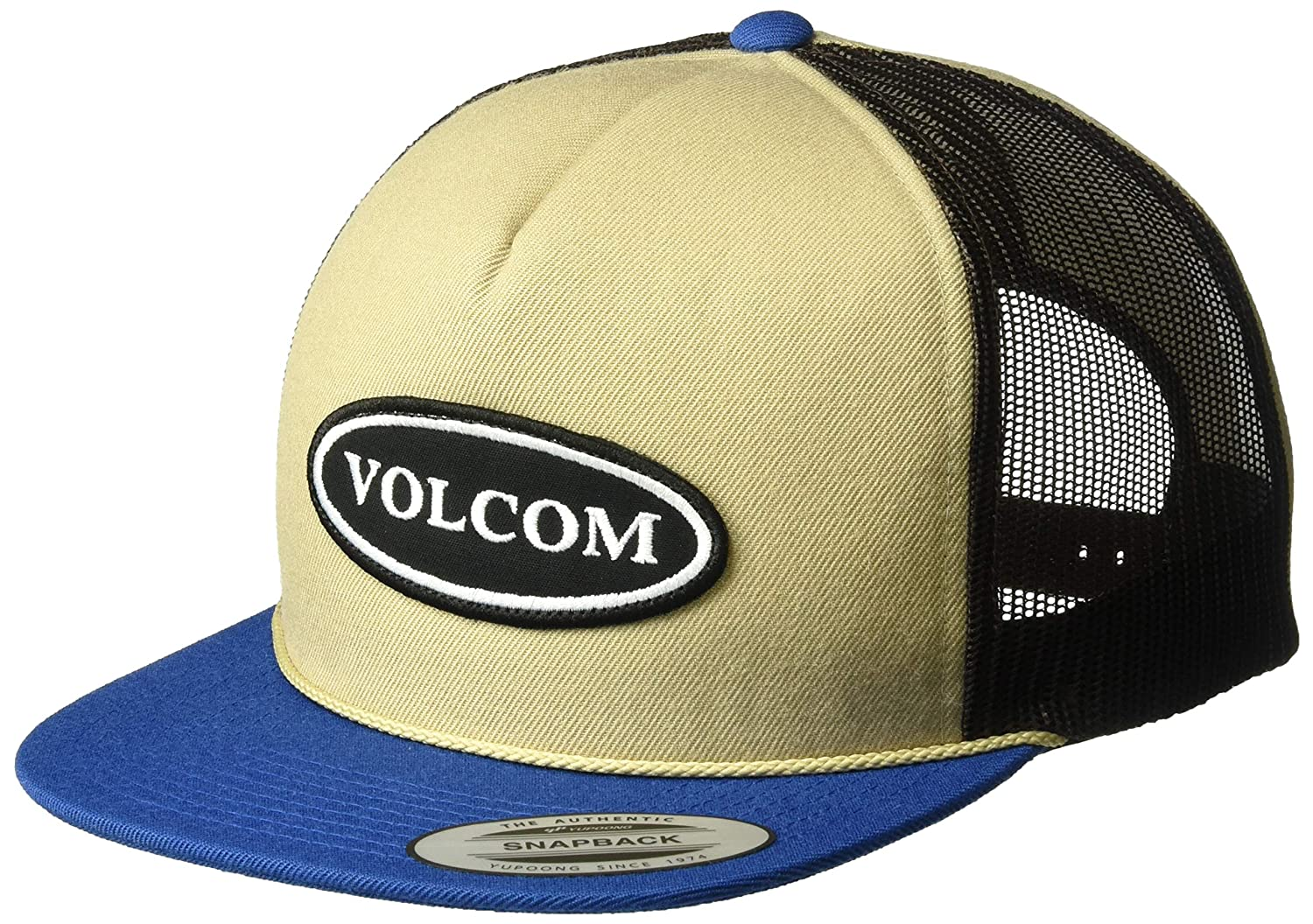0b5156c5114beb Amazon.com: Volcom Men's Logger 5 Panel Cheese Style Snap Back Hat, Indigo  ONE Size FITS All: Clothing