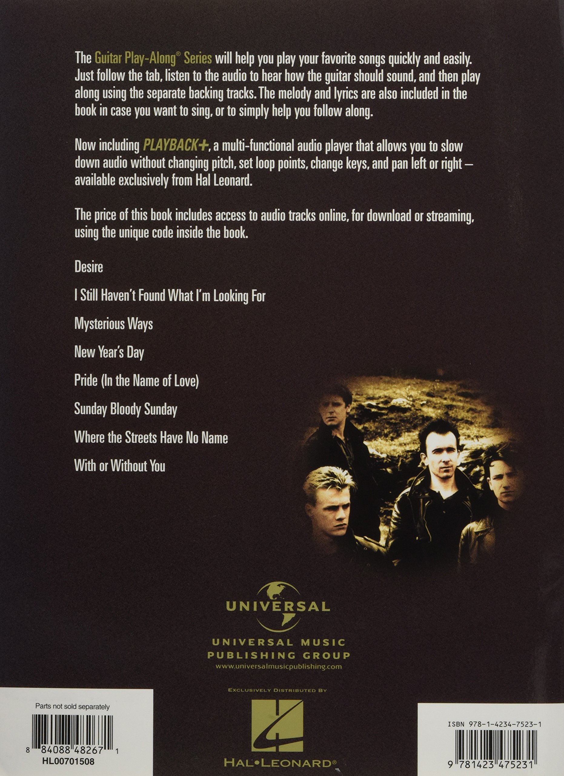 Amazon com: U2: Guitar Play-Along Volume 121 (0884088482671