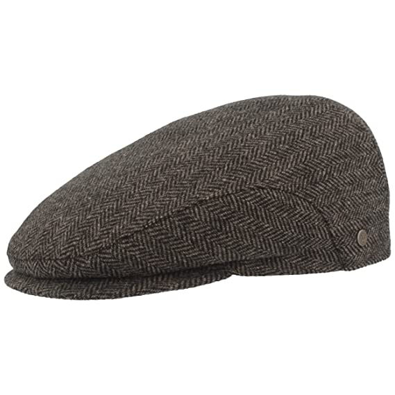 Wide - Winter Hat with Ear Protection Ear Flaps Herringbone Design ... 3693ec35830