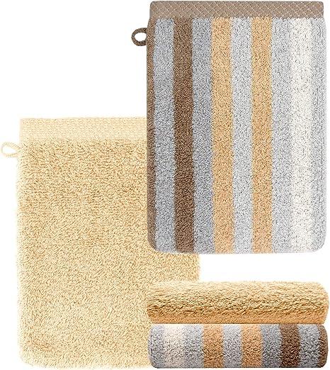 Lashuma – Juego de toallas, manopla de baño, toalla de invitados ...