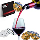 Wine Disc Pourer Set of 12 Best Drip Stop Pour Spouts Thin Flexible and Reusable Drop Stop Disk