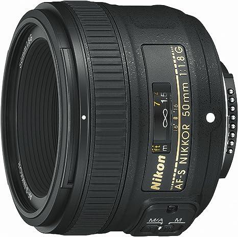 Nikon Nikkor - Objetivo para cámara AF-S 50mm f/1.8G (SLR, 7/6 ...
