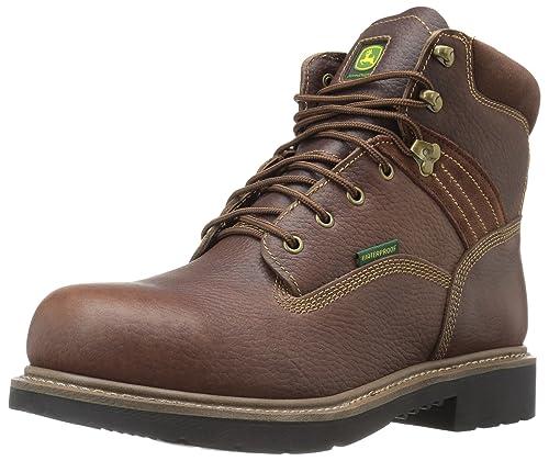 b296dde89fe Amazon.com   John Deere Men's 6 Brn Waterproof Steel Toe EH Farm/Wrk ...