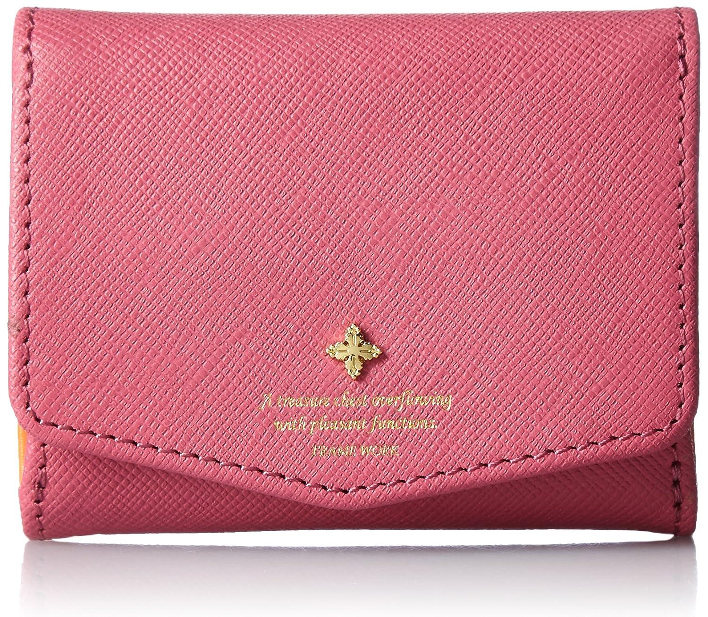 [フレームワーク] FRAME WORK 「アンサンブル」外四方口付三つ折り財布 B00L8GGL58 ピンク ピンク