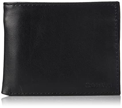 c5b6e4c9d786 Calvin Klein Men s RFID Blocking Leather Bifold Wallet with Key Fob ...