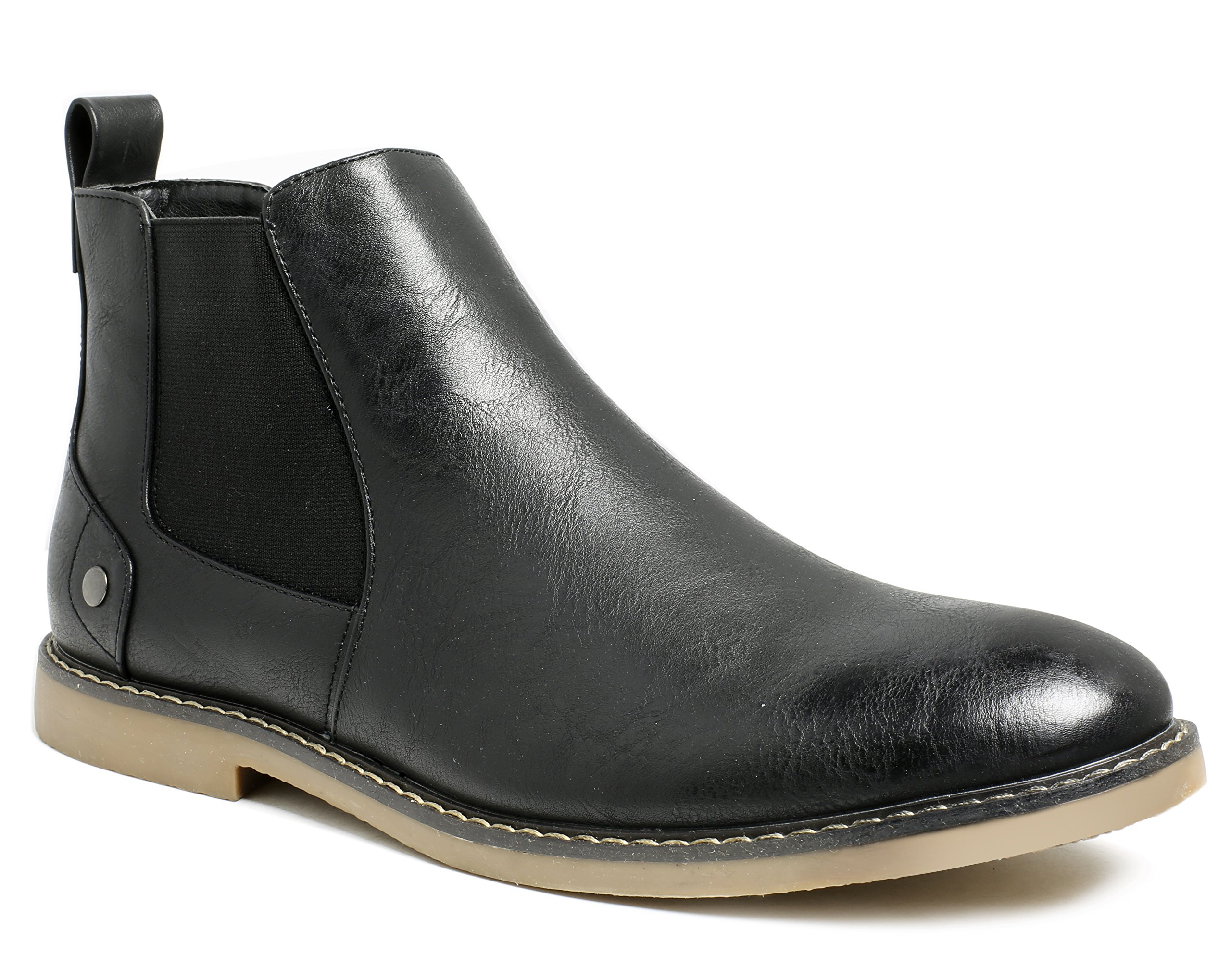 f33ca56cca97 PARTY Mens Chelsea Boots Formal Dress Elastic Casual Ankle Boots for Men  Black 9.5