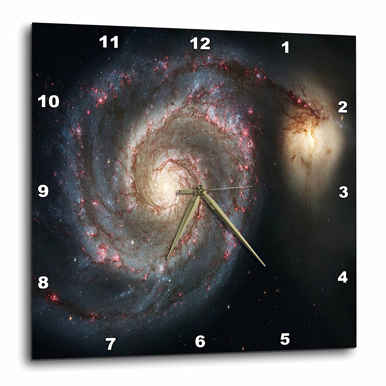 Wall Clock DPP/_80620/_3 15 by 15-Inch 3dRose Photo of Whirlpool Galaxy M 51 Messier
