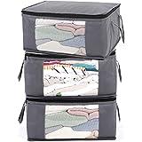 ABO Gear G01 - Bolsas organizadoras para Ropa suéter, 3 Unidades, Color Gris