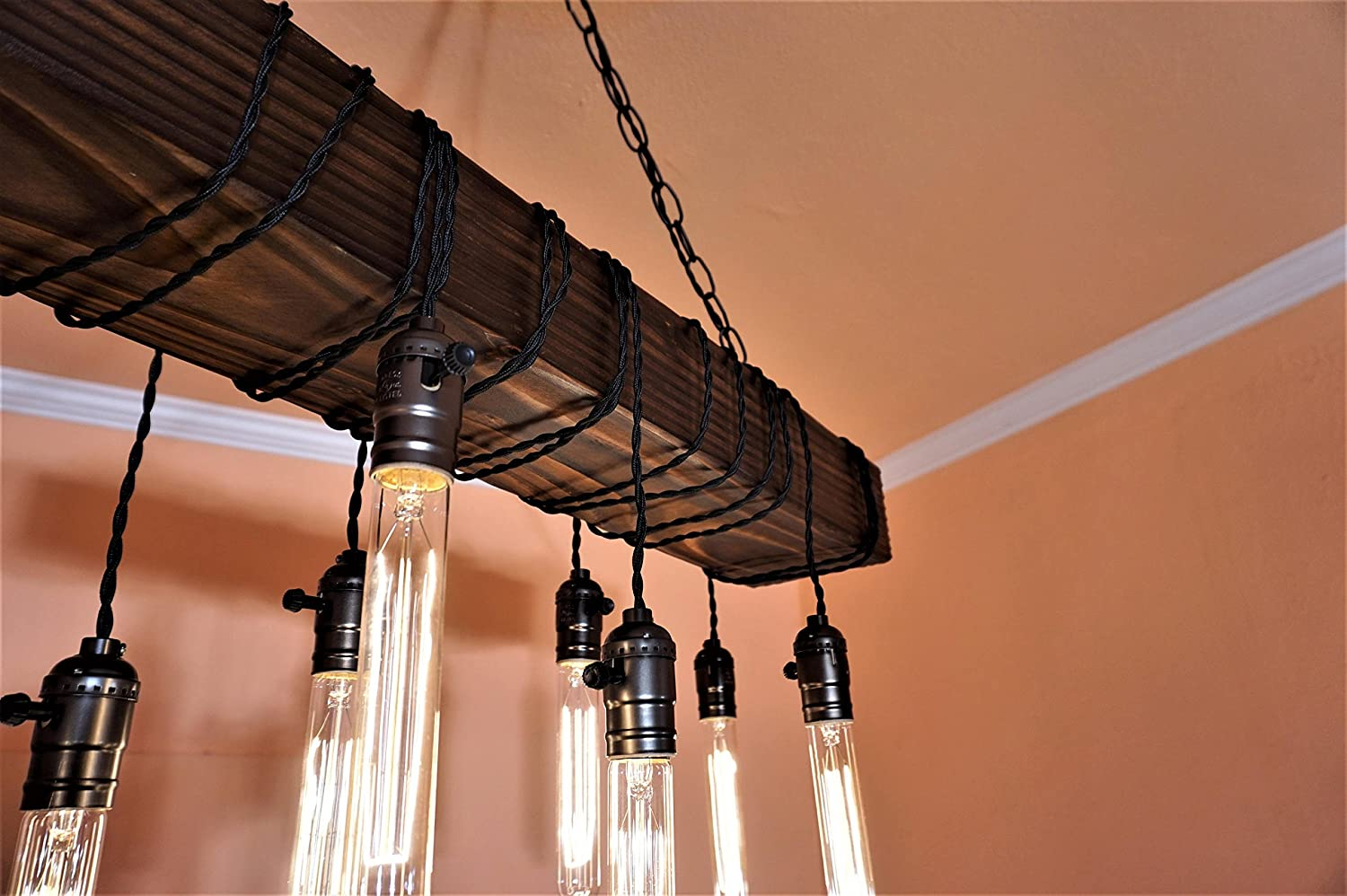 Chandelier Real Barn Wood Made By Muller Designs Made In Los Angeles 2 Different Beam Sizes