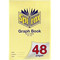 SPIRAX Grid 132 A4 5MM Grid Graph Book, 48 Pages, (56132)