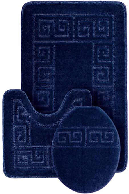 3 Piece Bath Rug Set Pattern Bathroom Rug (20u0026quot;x32u0026quot;)/large
