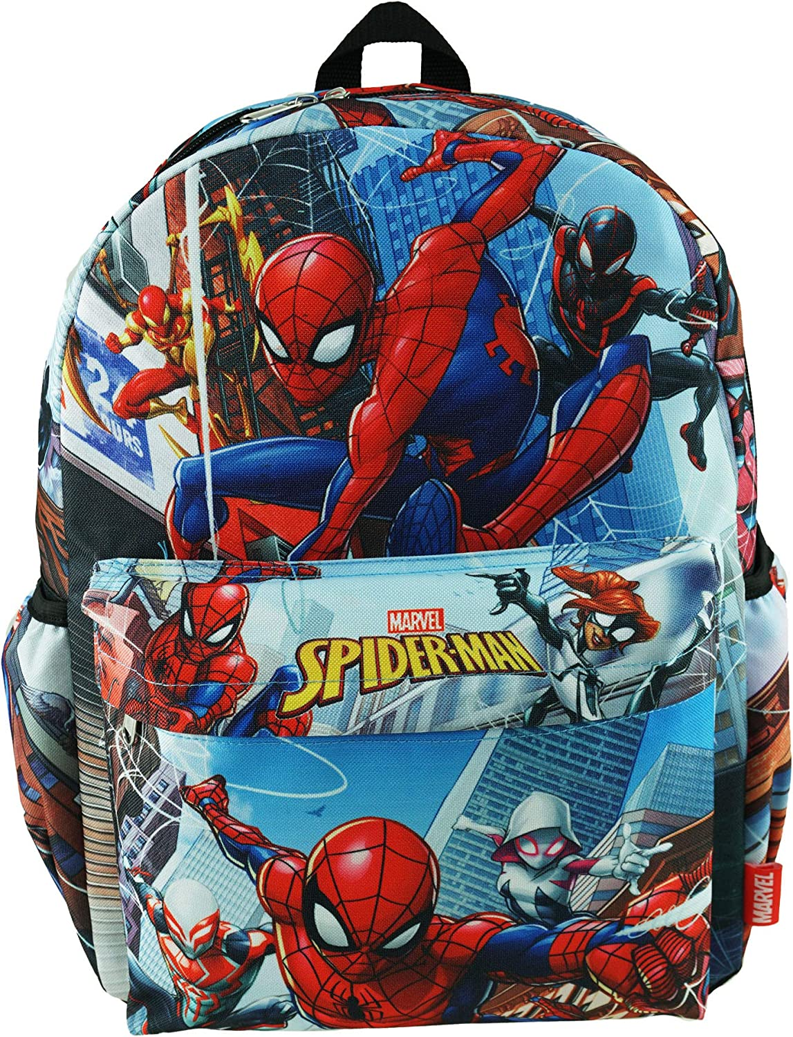 "Spider-Man Deluxe Oversize Print Large 16"" Backpack with Laptop Compartment - A17704"