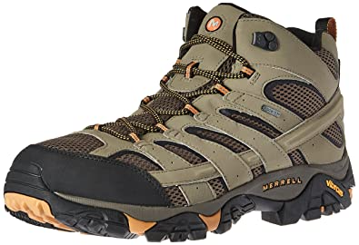 Merrell Men's Moab 2 Mid GTX Hiking Boot, Walnut, ...