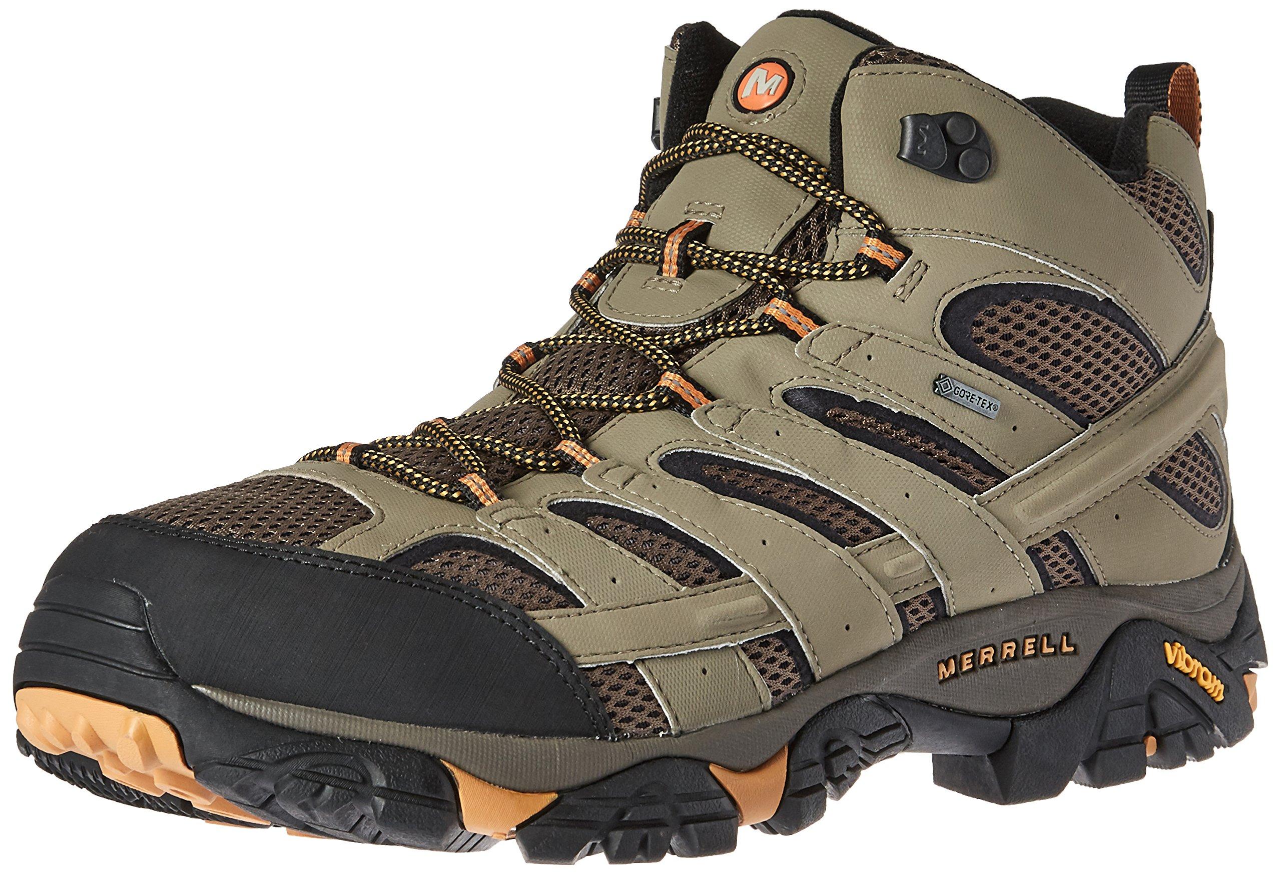 Merrell Men's Moab 2 Mid Gtx Hiking Boot, Walnut, 9.5 W US
