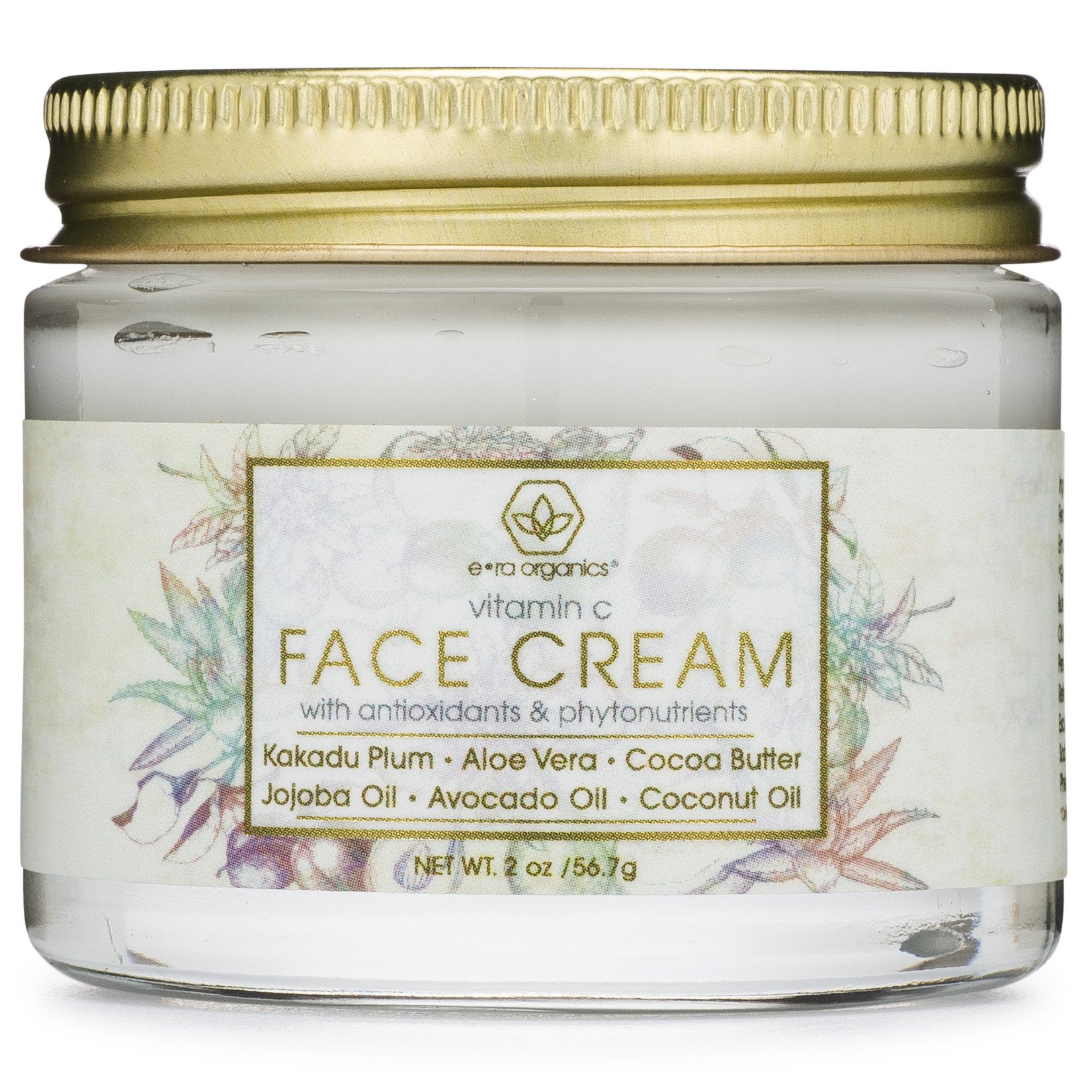 Vitamin C Face & Eye Cream - 2oz Revitalizing Natural Anti Aging Moisturizer With Kakadu Plum, Jojoba Oil, Avocado Oil, Vitamin E for Dry Skin, Wrinkles, Aging, Eye Bags, Dark Circles & Crows Feet