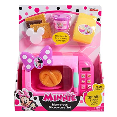 Just Play 88112 Minnie Bow-Tique Marvelous Microwave Set: Toys & Games