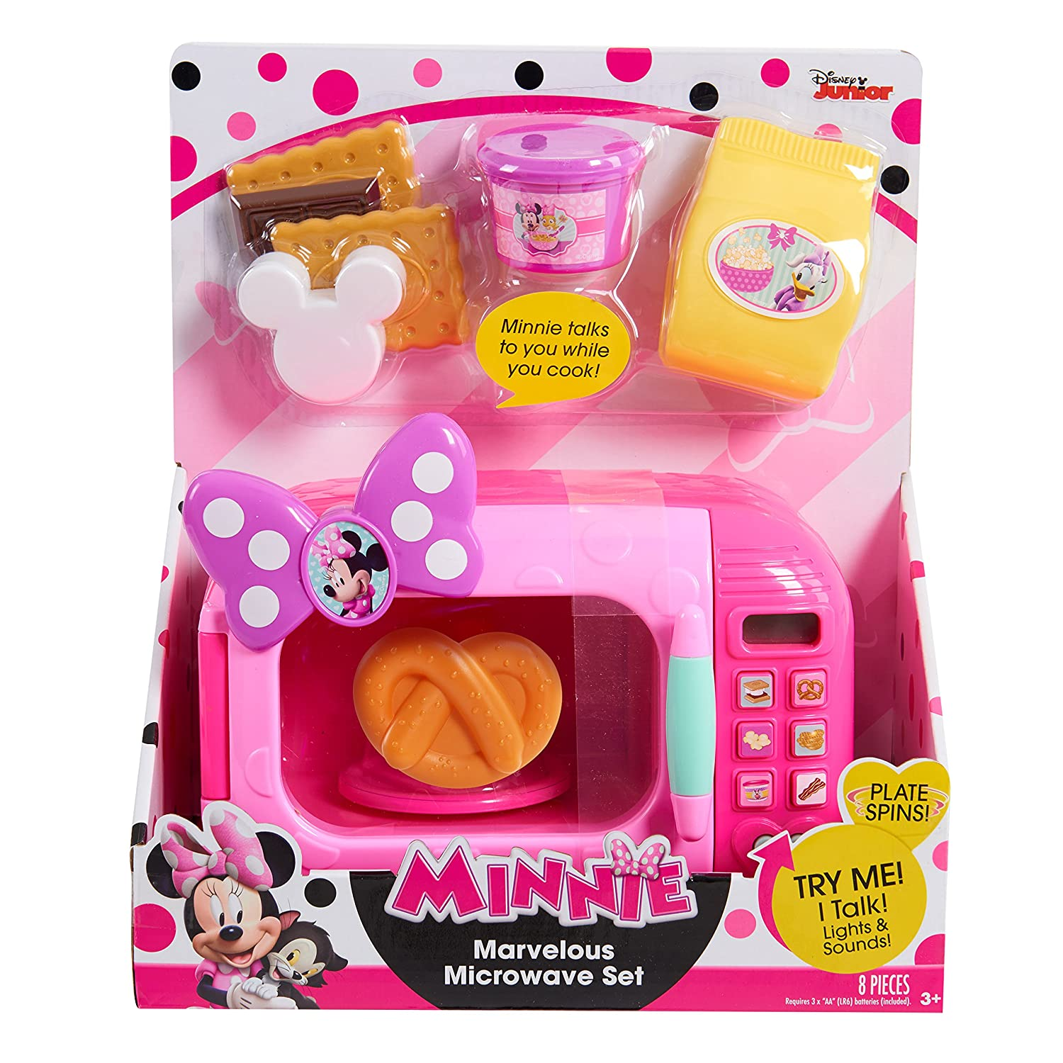 Amazon.com: Just Play 88112 Minnie Bow-Tique Marvelous Microwave Set: Toys & Games