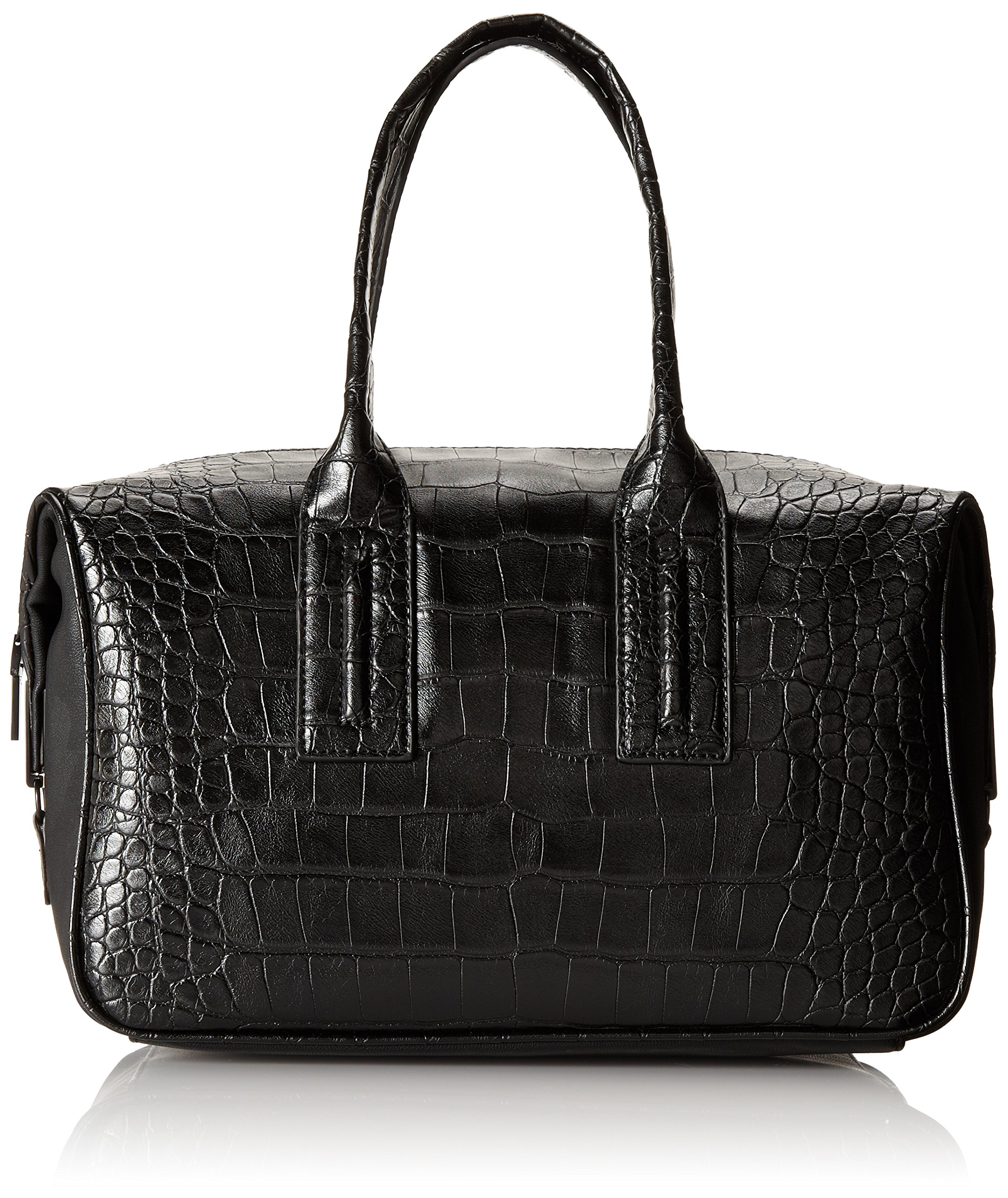 French Connection Shes A Lady Satchel,Black Crocodile,One Size by French Connection (Image #1)