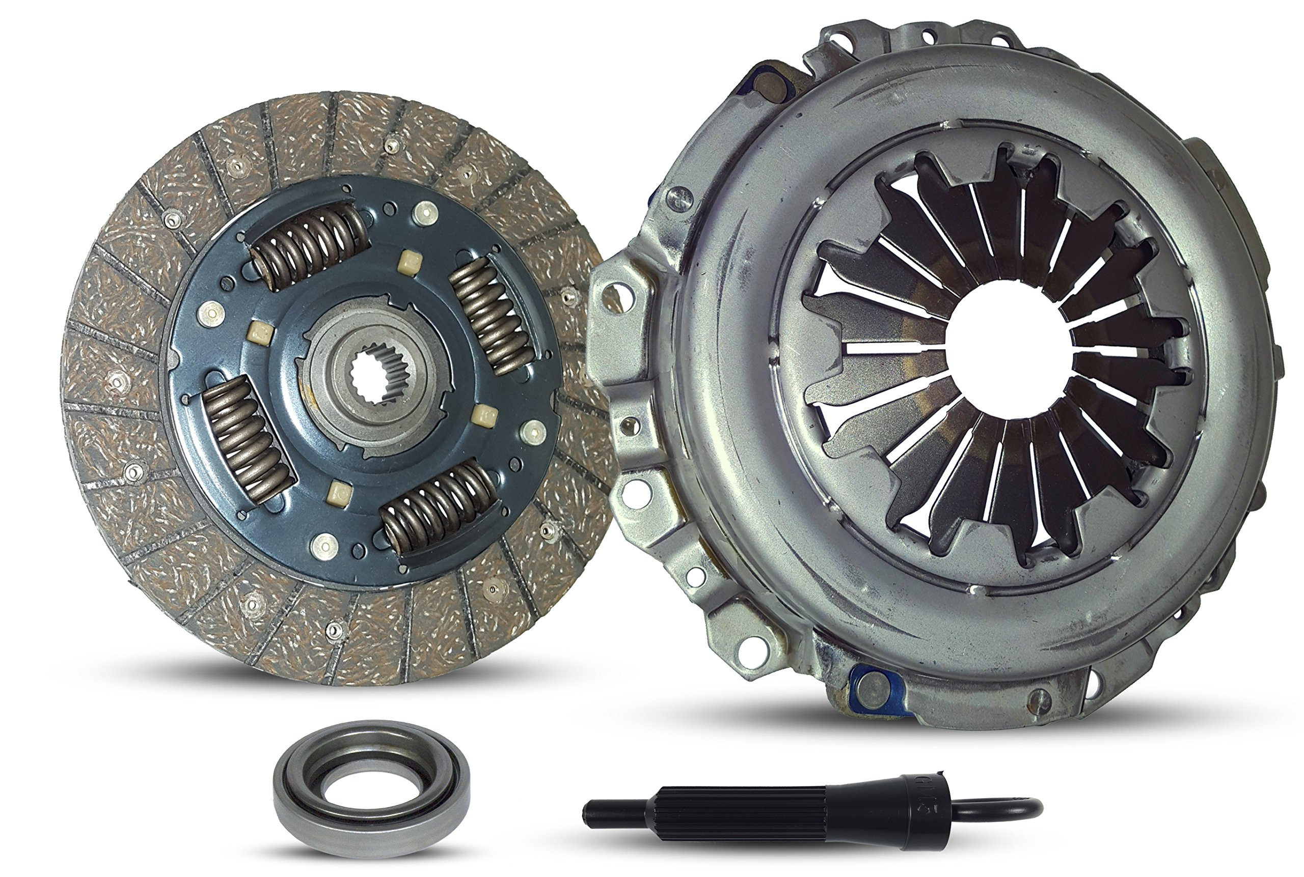 Clutch Kit Works With Set Pontiac Matiz Chevy Spark Byte Cargo DOT LS LT LTZ DOT ZMX Base Hatchback 2011-2015 1.2L l4 GAS DOHC Naturally Aspirated