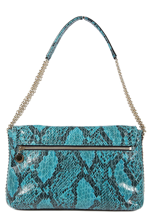 08e4fafff494 Stella Mccartney women s leather shoulder bag original dstyling blu   Handbags  Amazon.com
