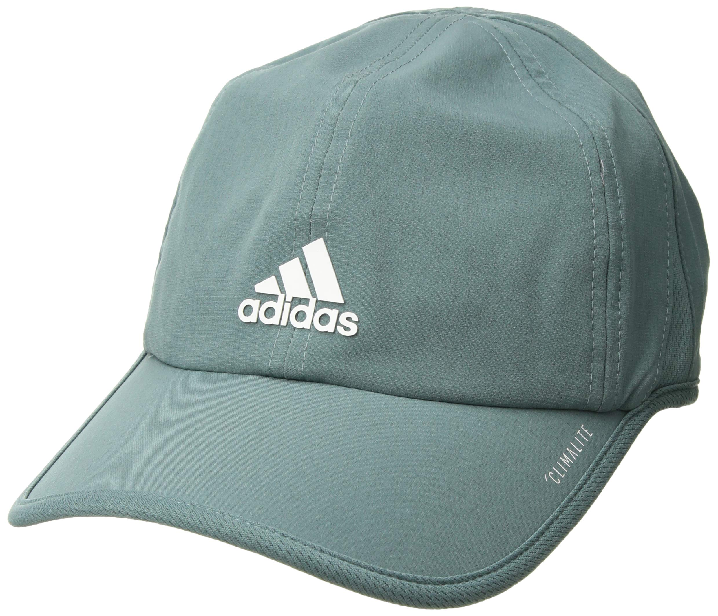 adidas Women's Superlite Relaxed Adjustable Performance Cap, Raw Green/White, One Size