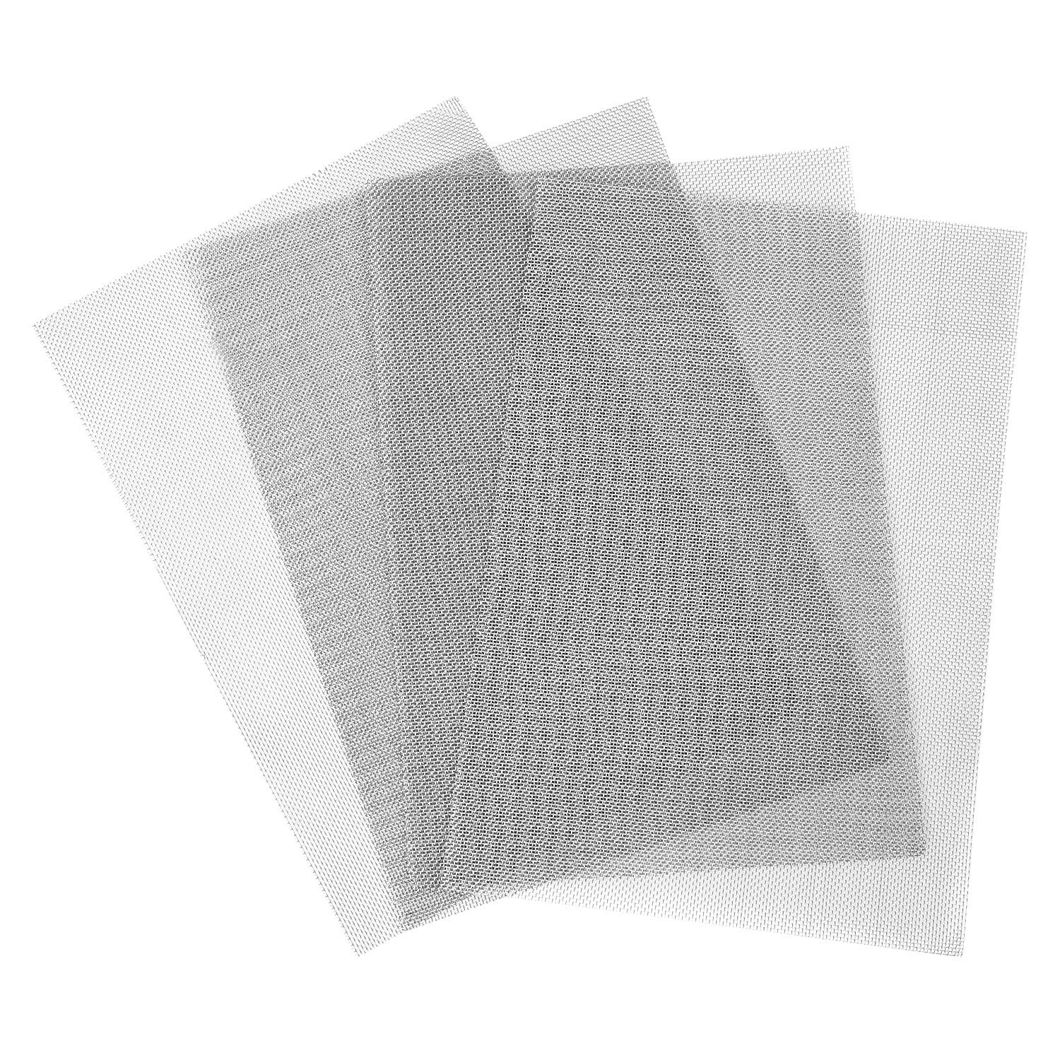 Elcoho 4 Pack 304 Stainless Steel Woven Wire 20