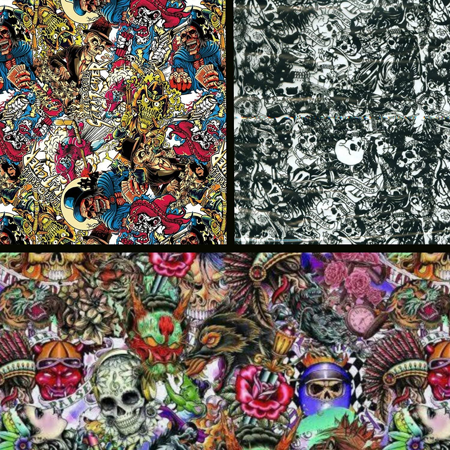 19 X 78 Square Meter Hydrographics Film Water Transfer Printing Film Hydro Dipping Dip Film Hydrographic Film Hydro Dip Skull /& Cross Film