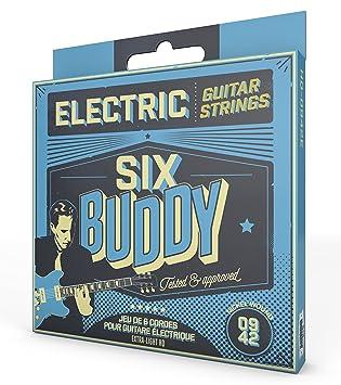 SIX Buddy hq-0942e Juego de 6 cuerdas para guitarra eléctrica 09 - 42: Amazon.es: Instrumentos musicales