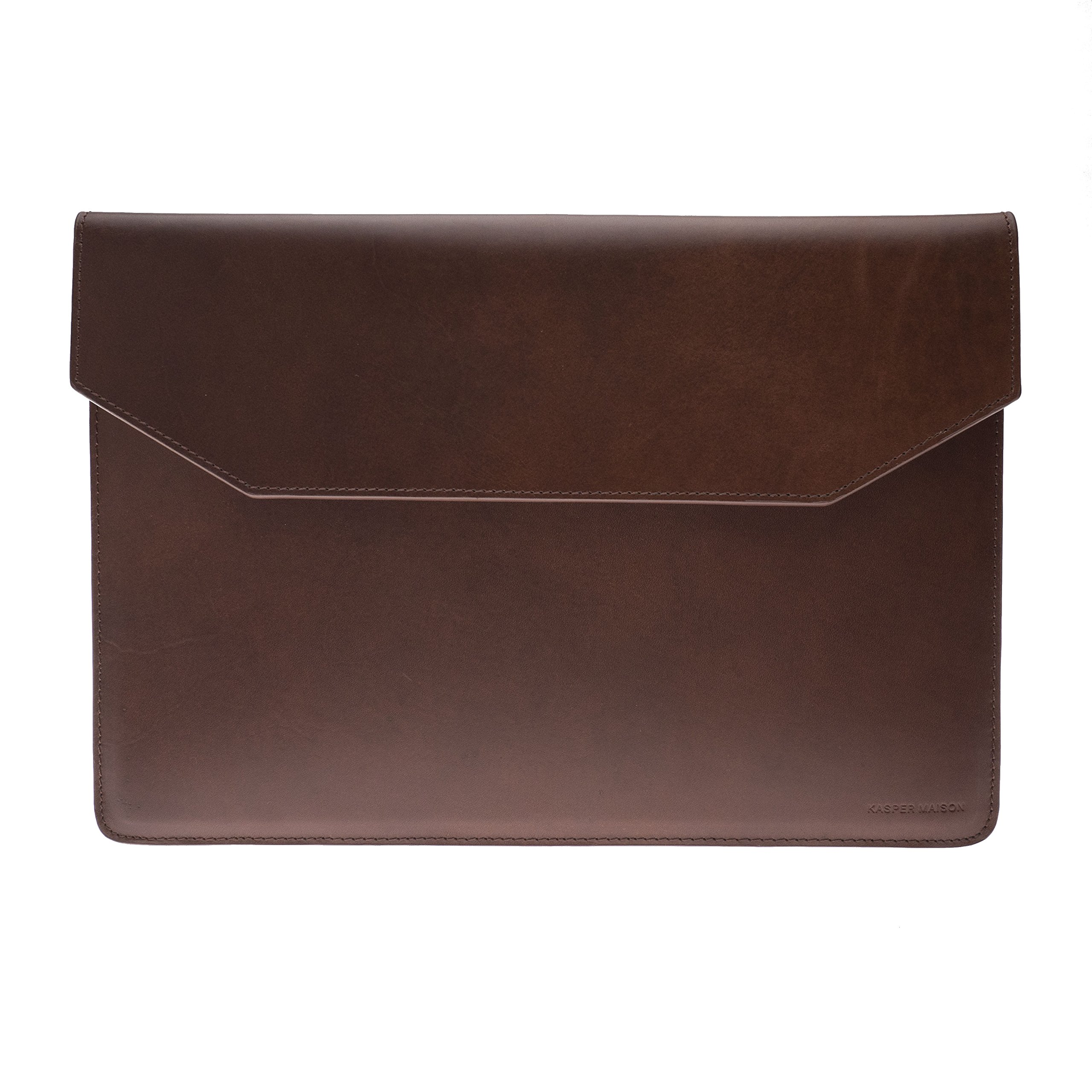 Kasper Maison Italian Leather Laptop Sleeve for 15 Inch Macbook Pro 2016 / 2017 Touch Bar – Designed Envelope Case for similar computer, notebook and ultrabook sizes - Signature Gift Included by Kasper Maison (Image #4)