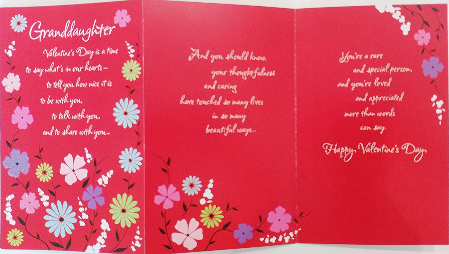 Amazon Granddaughter Happy Valentines Day Greeting Card