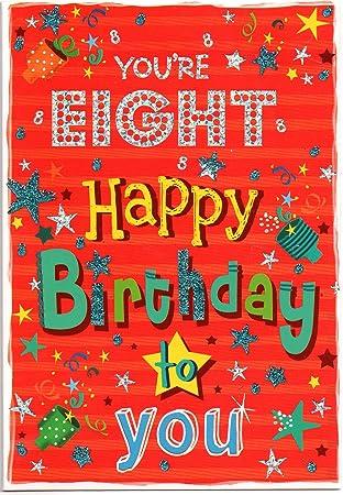 Birthday Card For Eight 8 Year Old Boy
