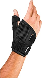 Mueller Reversible Thumb Stabilizer, Black, One Size Fits Most | Stabilizing Thumb Brace