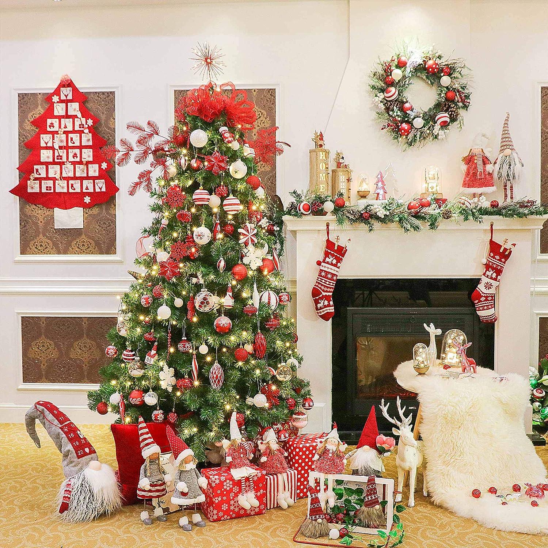 Valery Madelyn Weihnachtsstr/ümpfe 46cm Leinen 2er Set Nikolaus Strumpf zum Bef/üllen und Aufh/ängen In den Wald Thema f/ür Weihnachtsschmuck Beige MEHRWEG Verpackung