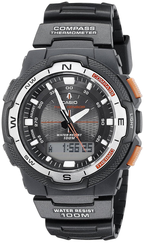 amazon com casio men s sgw500h 1bv black resin multifunction watch rh amazon com casio world time watch instructions Casio Illuminator World Time Watch