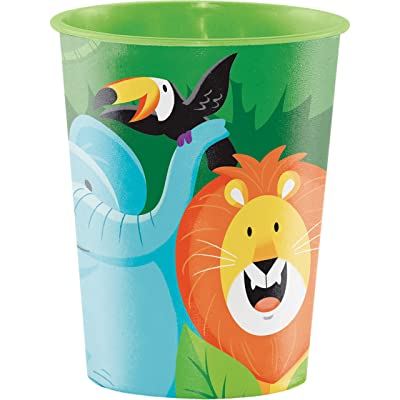 Jungle Safari 16 oz Plastic Cups, 8 ct: Toys & Games