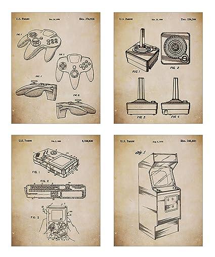 Amazon Com Game Room Decor Original Classic Video Games Patent