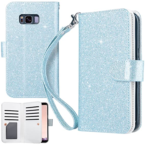 the latest ee599 6f475 Amazon.com: UrbanDrama Case for Galaxy S8, S8 Wallet Case Glitter ...