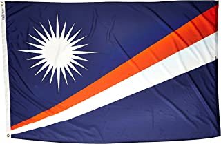 product image for Annin Flagmakers Model 195522 Marshall Islands Flag Nylon SolarGuard NYL-Glo, 4x6 ft, 100% Made in USA to Official United Nations Design Specifications