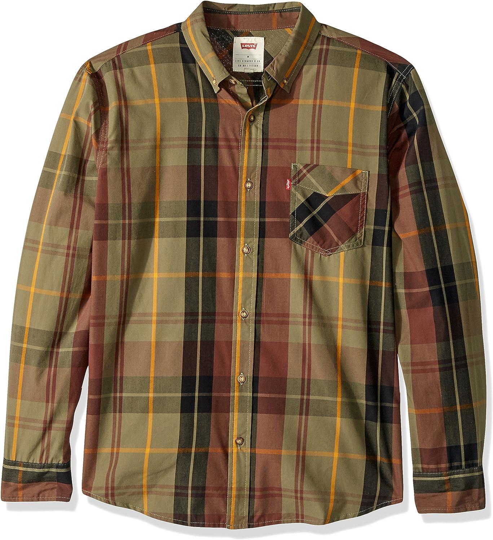 Levis Amway - Camisa de cuadros para hombre - Verde - X-Large: Amazon.es: Ropa y accesorios