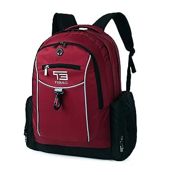 TB tibag Business resistente al agua mochila para ordenador portátil/Tablet bolsa - se puede utilizar como estudiante universitario Casual mochila rojo ...