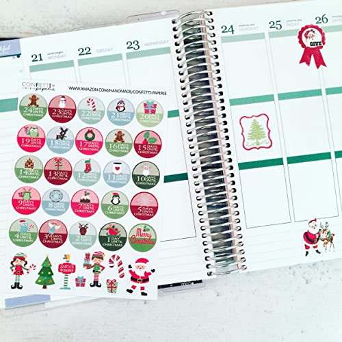Amazon.com: Countdown to Christmas Planner Stickers, Erin ...