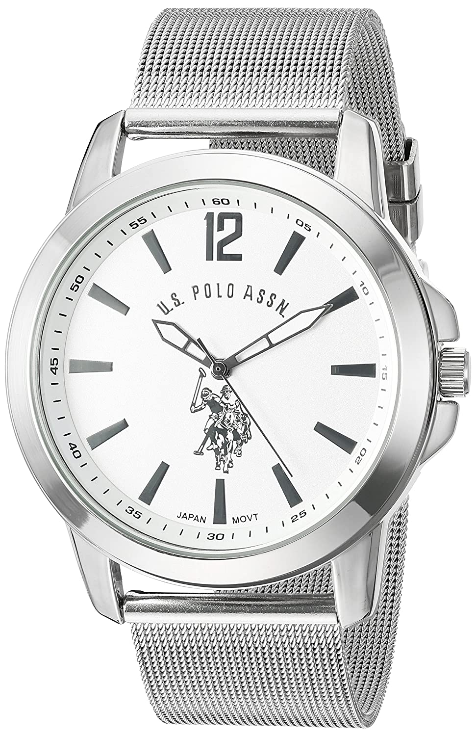 Amazon.com: U.S. Polo Assn. Classic Mens USC80375 Analog Display Analog Quartz Silver Watch: Watches