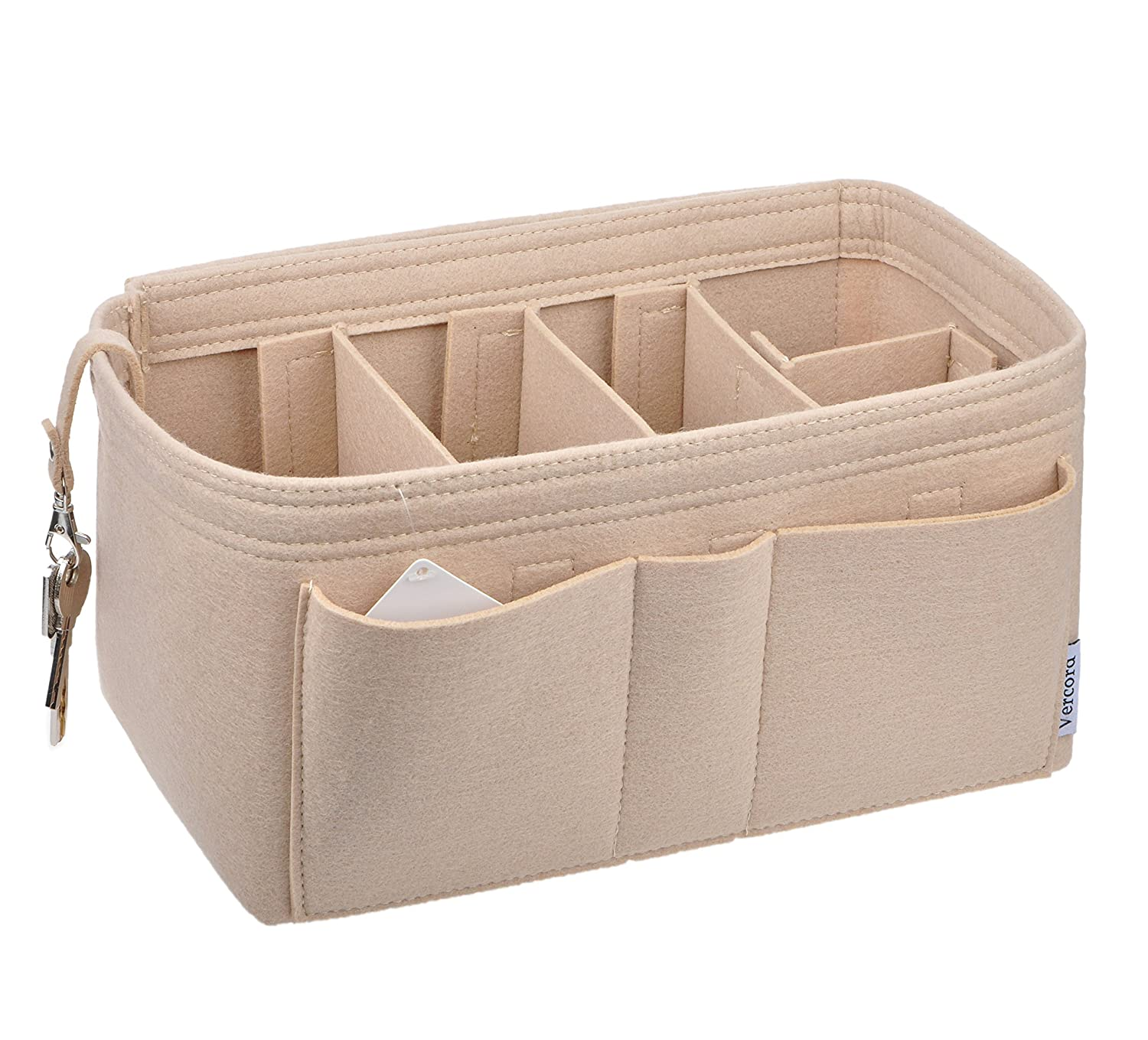 77915aad9ce Amazon.com  Vercord Felt Purse Shaper Organizer Insert Divider For Handbag  Tote LV Bags 11 Pockets  Shoes