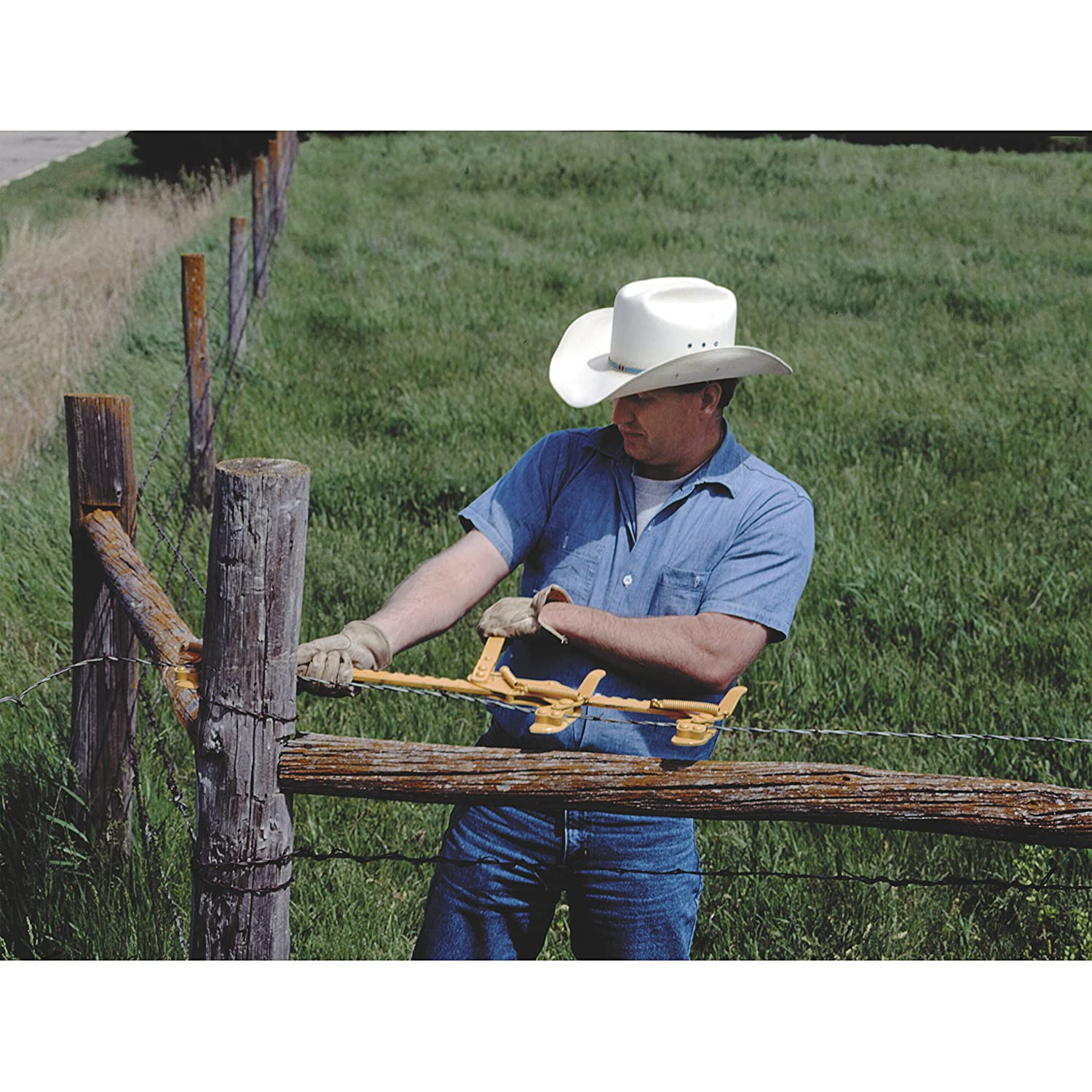 Amazon.com : GoldenRod Hired Hand Fence Stretcher with 3rd Hook ...